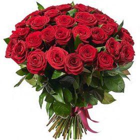 букет 51 червона троянда