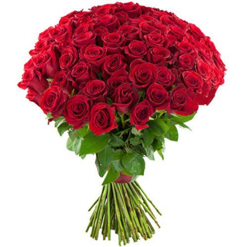 фото товару 75 червоних троянд