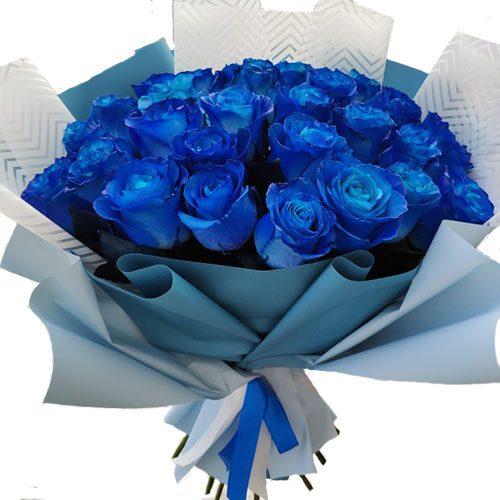 33 сині троянди букет фото