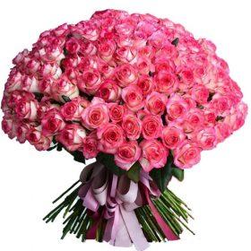 """букет 101 рожева троянда """"Джумілія"""""""