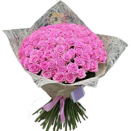 """101 рожева троянда """"Аква"""""""