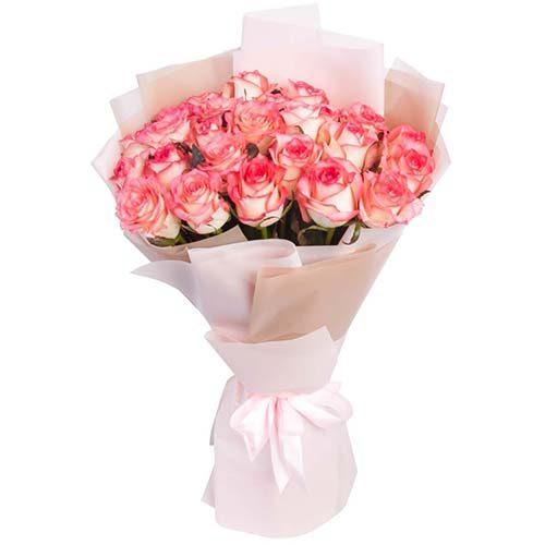 """фото букета 25 троянд """"Джумілія"""""""