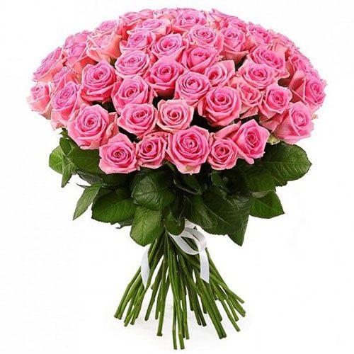 """фото букета 51 троянда """"Аква"""""""