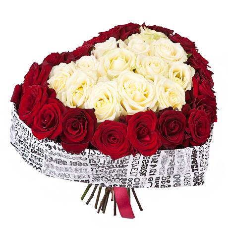 51 троянда серце фото