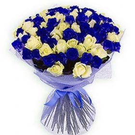 101 біла і синя троянда (фото)