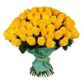 101 жовта троянда фото