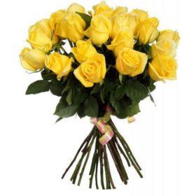 25 жовтих троянд фото
