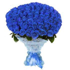 101 синя троянда фото
