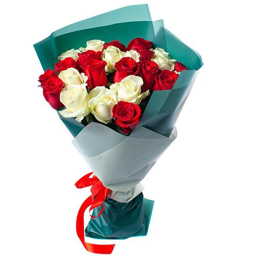 фото букета 25 троянд мыкс