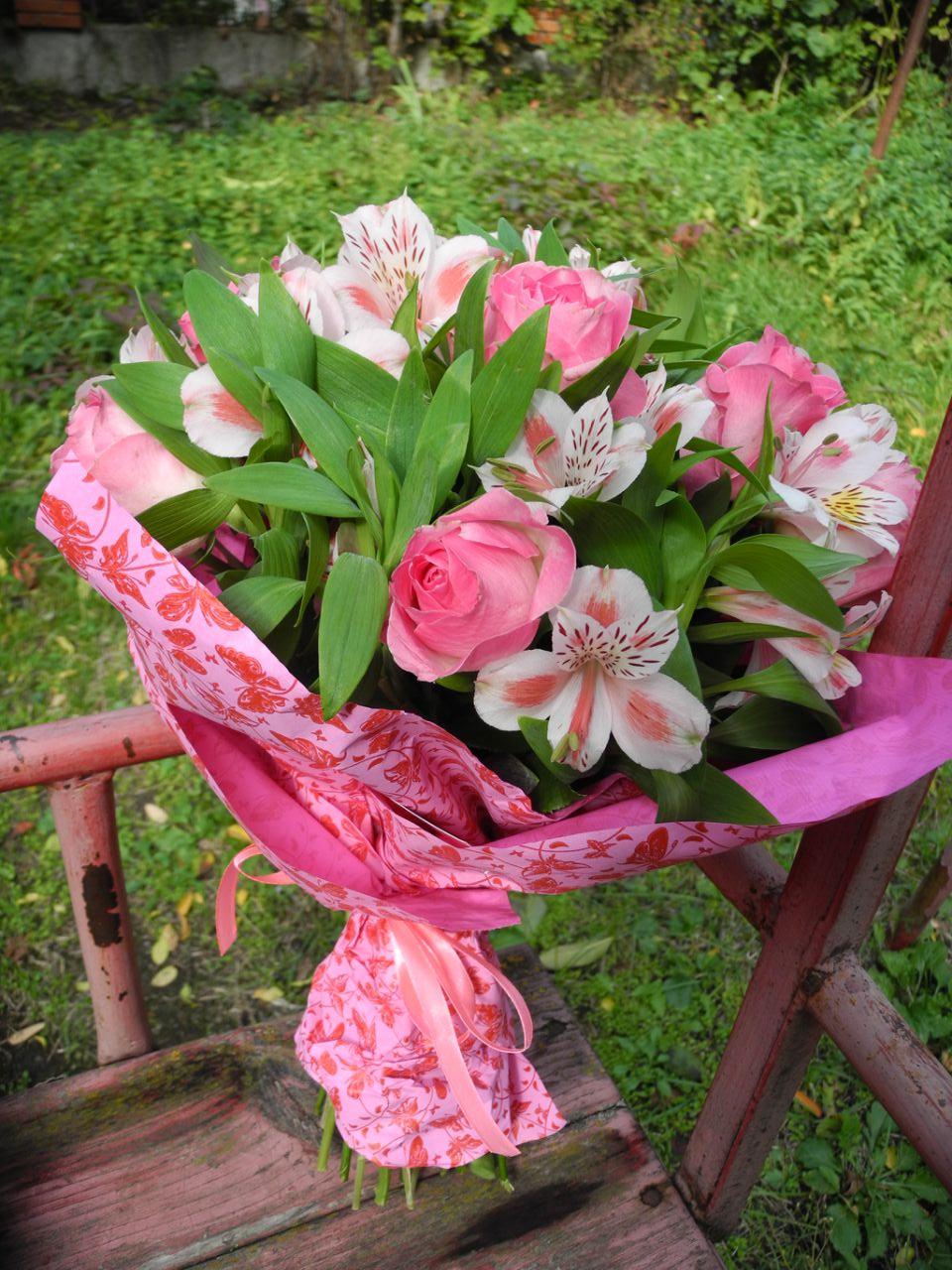 фото букет Рожевий колір