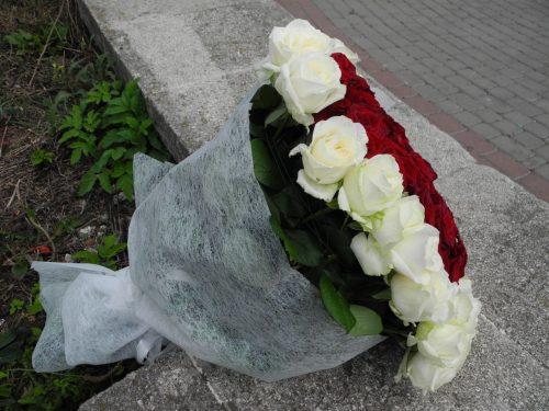 Серця (101 троянда) фото букета
