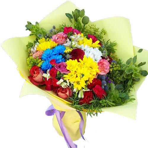 мікс-букет літніх квітів фото