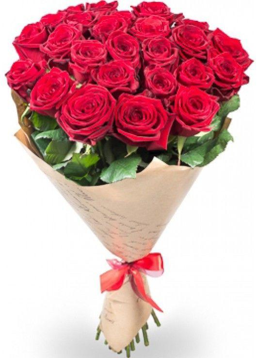 21 червона троянда
