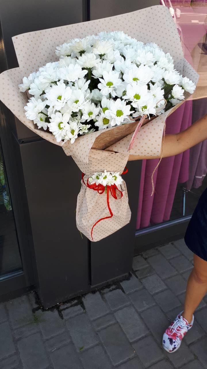 білі хризантеми