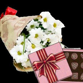 хризантеми та цукерки