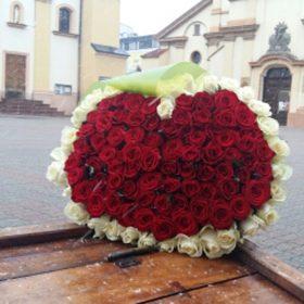 Купити 101 троянду в Івано-Франківську
