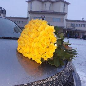 Великий букет жовтих троянд в Івано-Франківську