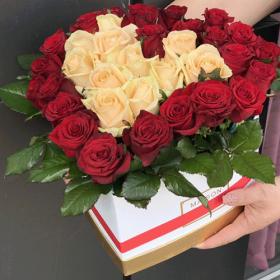 троянди у вигляді серця