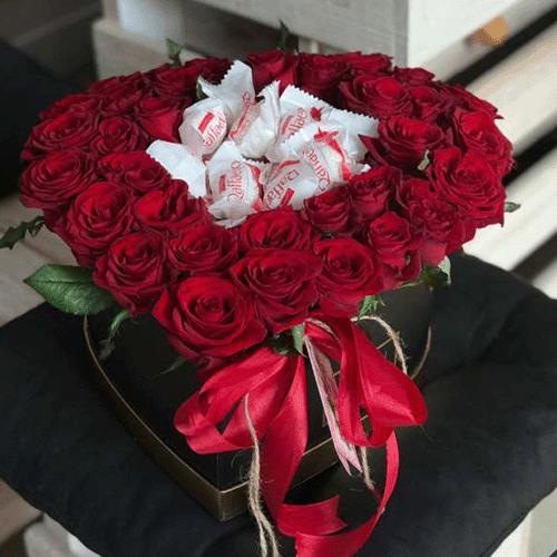 квіти з доставкою Коробка на Ваш вибір