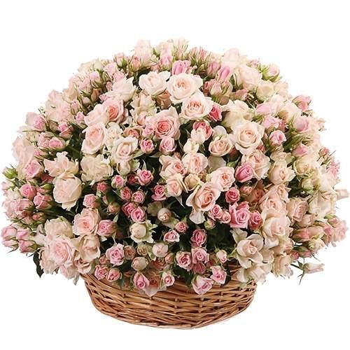 фото букета 201 кущова троянда в кошику