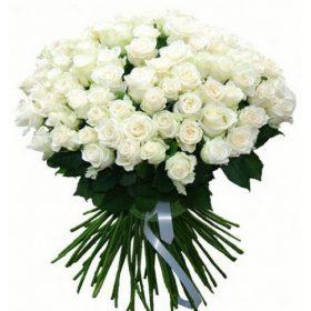 фото товару 101 біла троянда