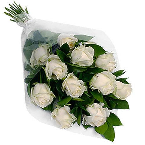 фото товару 11 білих троянд