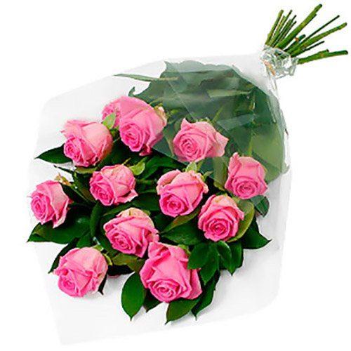 """фото товару 11 троянд """"Аква"""""""