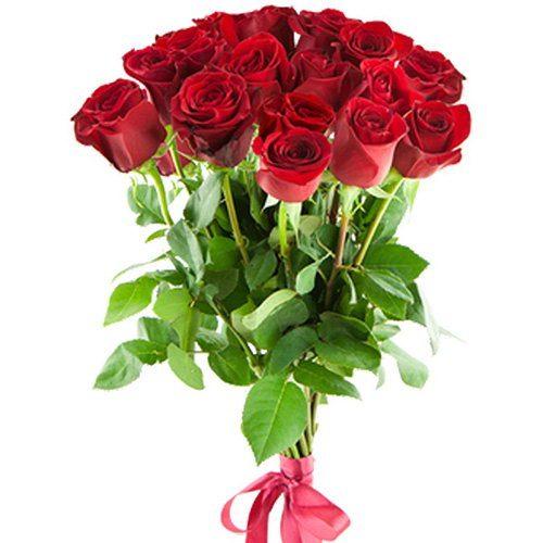 букет 15 імпортних троянд фото