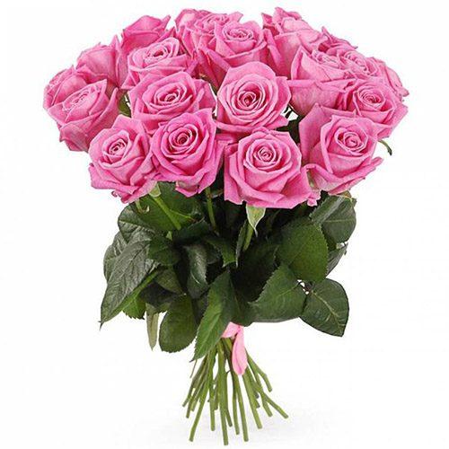 """фото букета 15 троянд """"Аква"""""""
