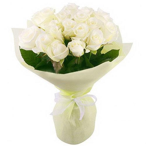 фото товару 19 білих троянд