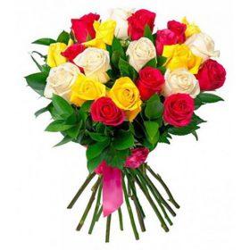 фото букета 21 троянда мікс