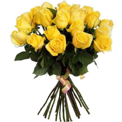 фото товару 25 жовтих троянд