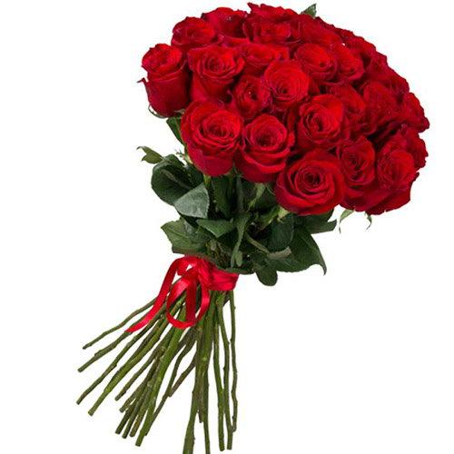 букет 25 імпортних троянд фото