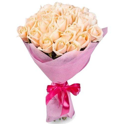 фото товару 25 кремових троянд