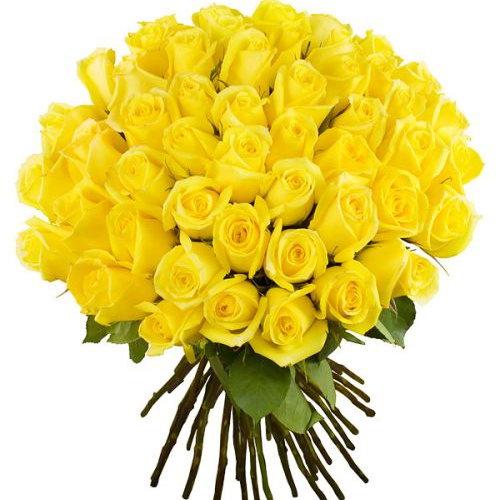 фото товару 51 жовта троянда