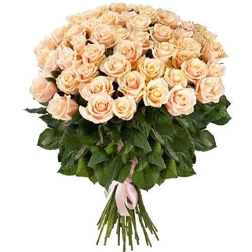 букет із доставкою 51 кремова троянда фото товару