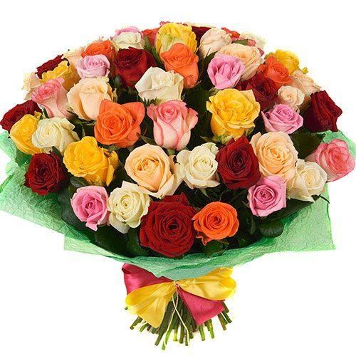 фото товару 51 троянда мікс