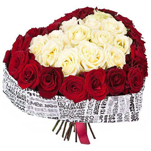 фото товару 51 троянда серце