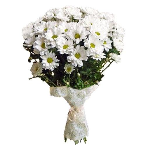 фото товару Букет «Очаровашка» хризантеми