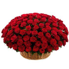 фото букета Кошик 101 червона троянда