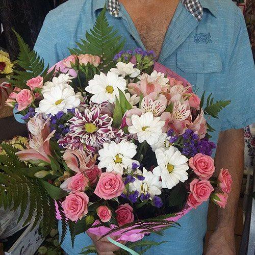 МІкс літніх квітів фото букета