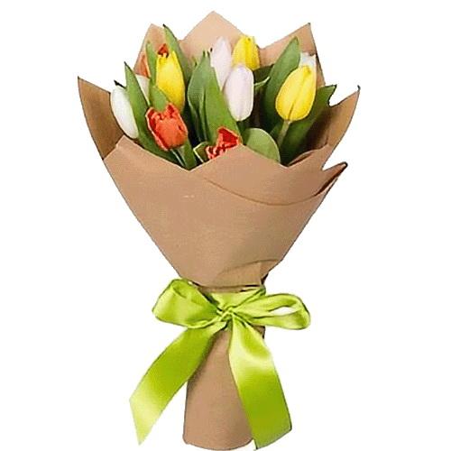 букет в івано-франківську 11 тюльпанів мікс