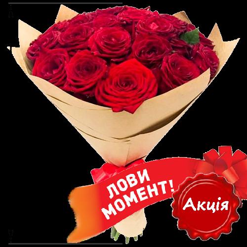 Акционное предложение 25 красных роз
