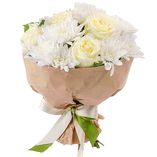 """Букет """"Радісний"""" троянди та хризантеми"""