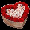 """подарунок квіти та солодощі Коробочка """"Солодке серце"""""""