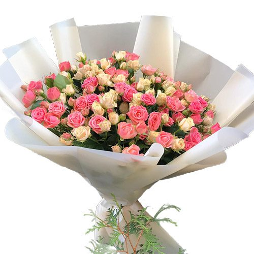 букет 33 кущові троянди